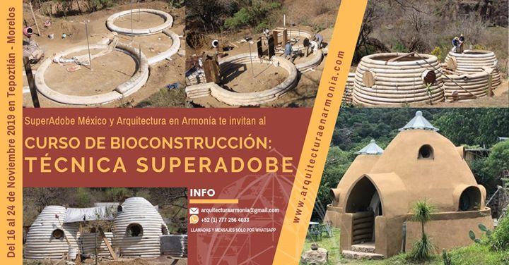 Curso de Bioconstrucción Técnica: SuperAdobe 2019